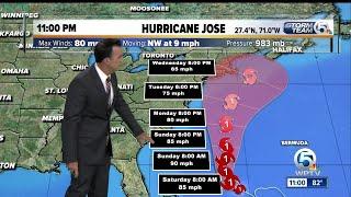 Hurricane Jose update: 9/15/17 - 11pm report
