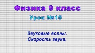 Физика 9 класс (Урок№15 - Звуковые волны. Скорость звука.)