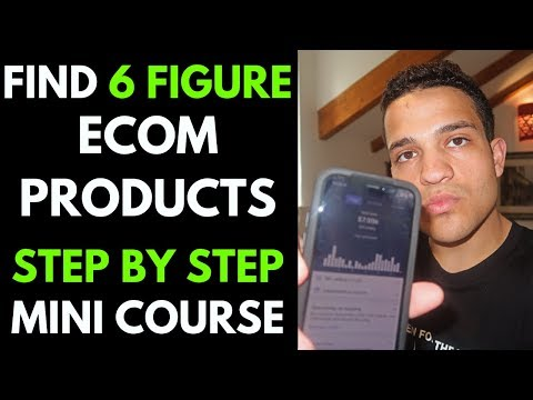 EASY 6 Figure Ecom Product Research FREE COURSE   How to Find Winning Dropshipping Products 2019 thumbnail