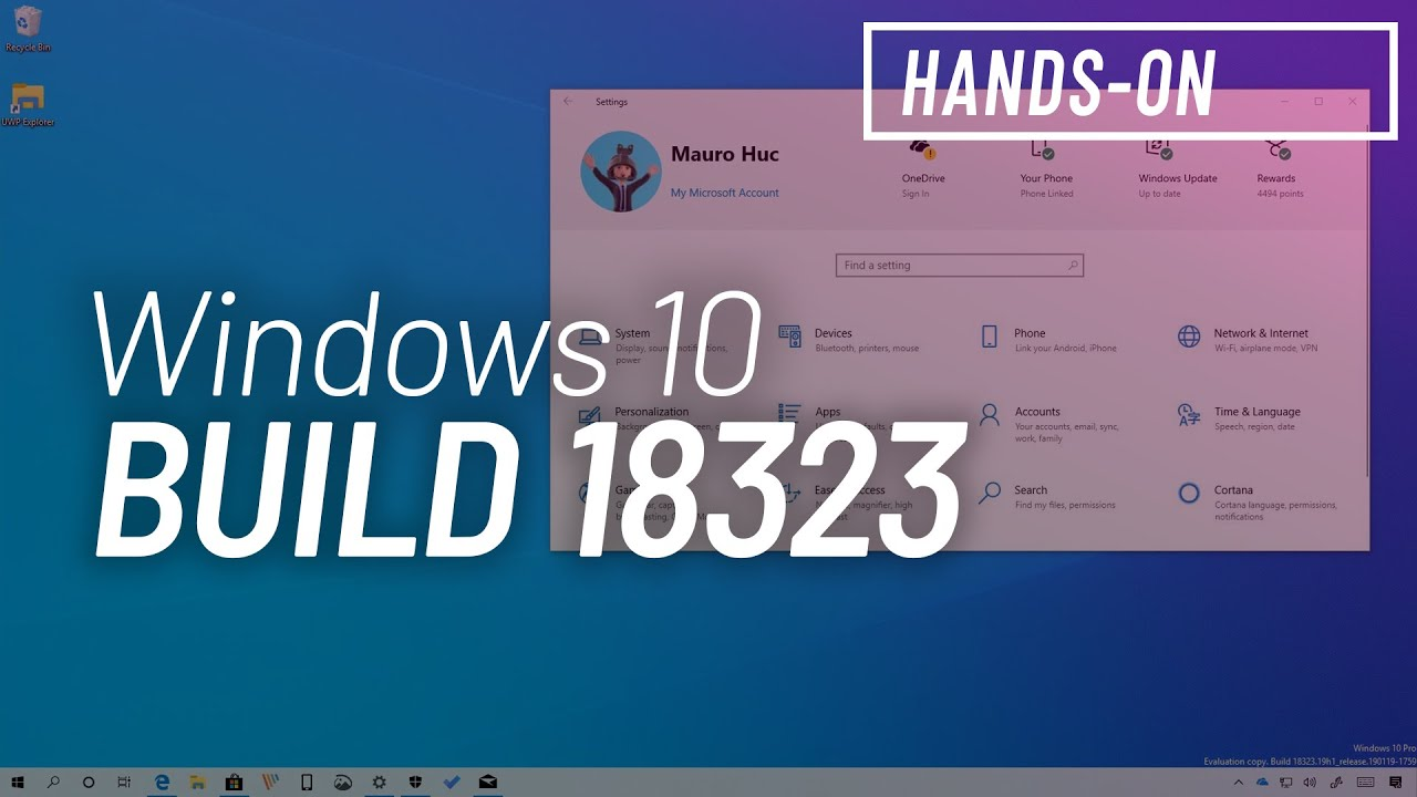 Windows 10 build 18323: Officially version 1903, RAW support, changes