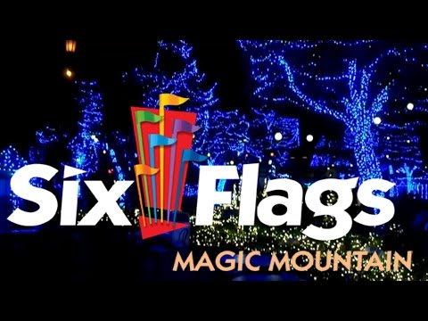 Ranger Visits Six Flags Magic Mountain (Justice League construction & Holiday In The Park)
