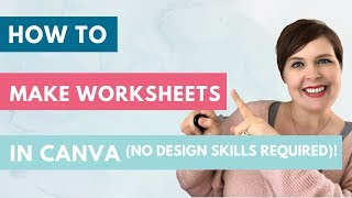 How to make work sheets in Canva (NO DESIGN SKILLS NEEDED!)