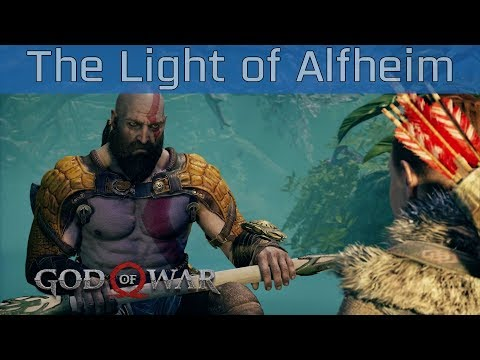 God of War (PS4) - The Light of Alfheim Walkthrough [HD 1080P]
