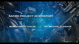 The SAFIRE PROJECT 2018 REPORT