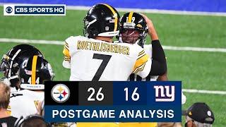 Week 1 Recap: Pittsburgh Steelers dominate the New York Giants, 26-16 | CBS Sports HQ