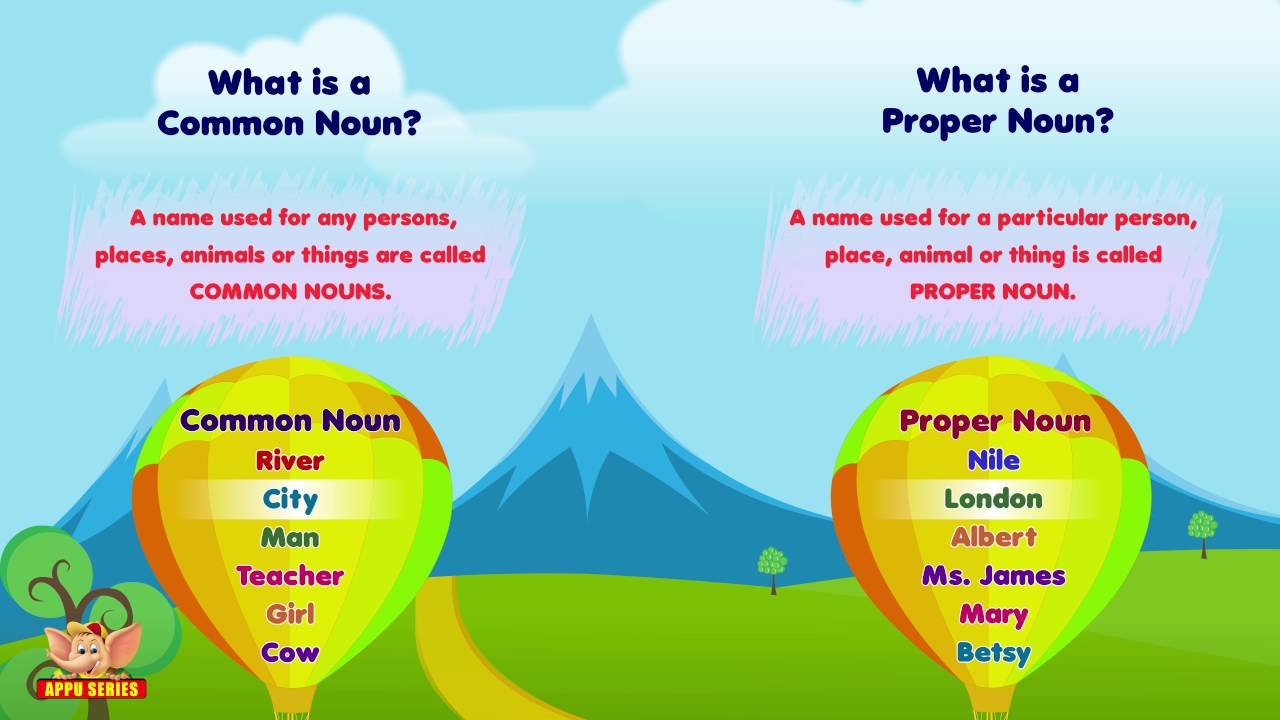 What Are Common And Proper Nouns Youtube