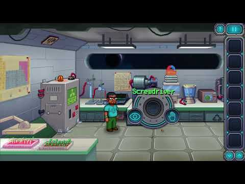 Odysseus Kosmos and his Robot Quest - Live Walkthrough with Achievement - Opening Scene (Laboratory)  