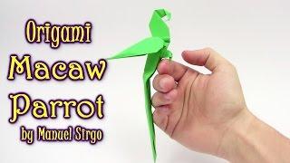 Origami Macaw Parrot by Manuel Sirgo | Cómo hacer origami loro - Yakomoga Origami tutorial
