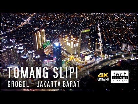[4K] Pemandangan Malam Hari Jakarta Barat - Tomang Slipi Grogol