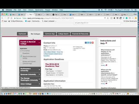 Matching Your Common App and Family Connection Accounts