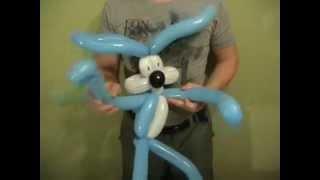 как сделать лицо из воздушных шаров