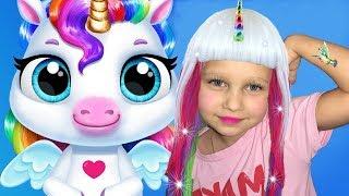 АЛИСА УХАЖИВАЕТ  ЗА МАЛЫШОМ ЕДИНОРОГОМ! My Baby Unicorn!