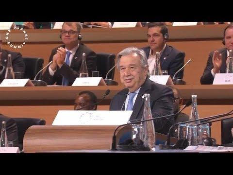 António Guterres (UN Secretary-General) at the One Planet Summit (12 December 2017)