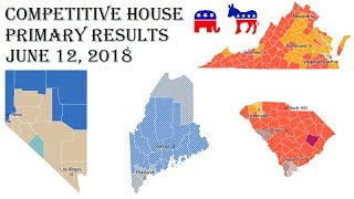 2018 Congress Predictions - June 12 Primary Results - Virginia, Nevada, South Carolina, Maine