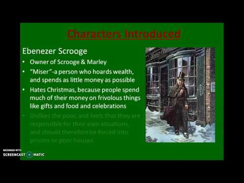 A Christmas Carol: Stave I-Questions/Characters