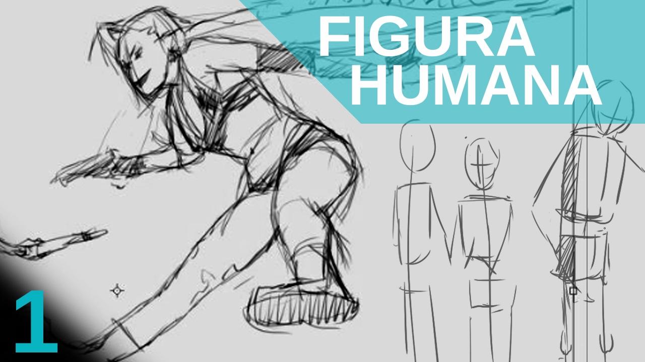 Como dibujar FIGURA HUMANA Lo primero que debemos hacer