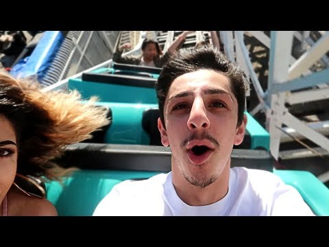 I can't believe this happened on the roller coaster... (scary moment) | FaZe Rug