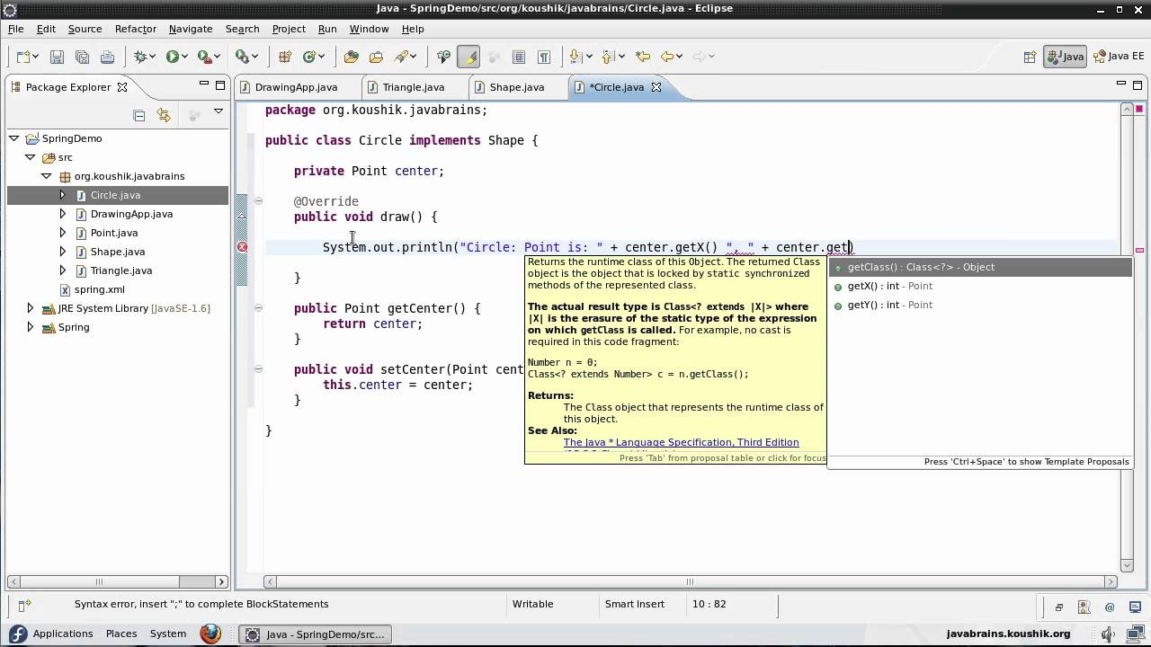 Spring Tutorial 17 - Coding To