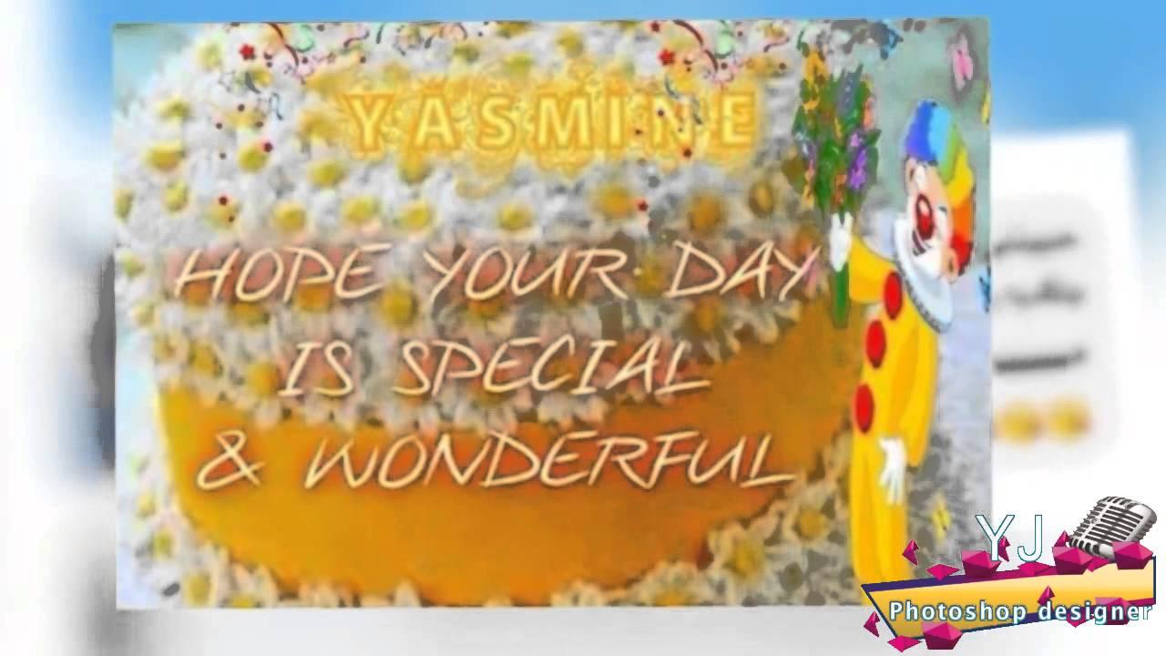 عيد ميلاد سعيد ياسوو اهداء من كل رفقاتك ومنى ياسمين