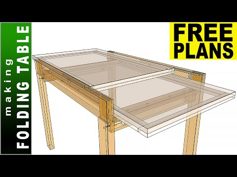 Folding Dining (Sliding) Table 👉 FREE PLANS 👈 Making Dining Table - DIY