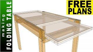 Folding (Sliding) Dining Table 👉 FREE PLANS 👈 Making Dining Table - DIY