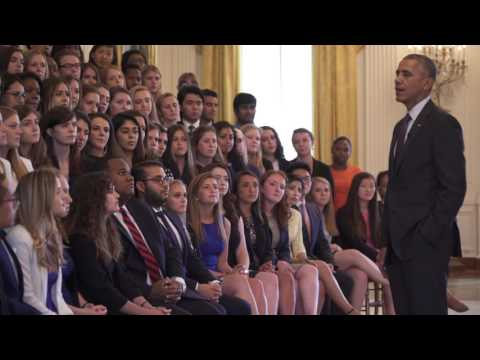 Thumbnail: Intern Q&A with the President (a West Wing Week Special Edition)