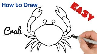 How to Draw a Crab Easy Art Tutorial