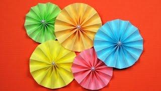 как сделать цветы гармошкой из бумаги