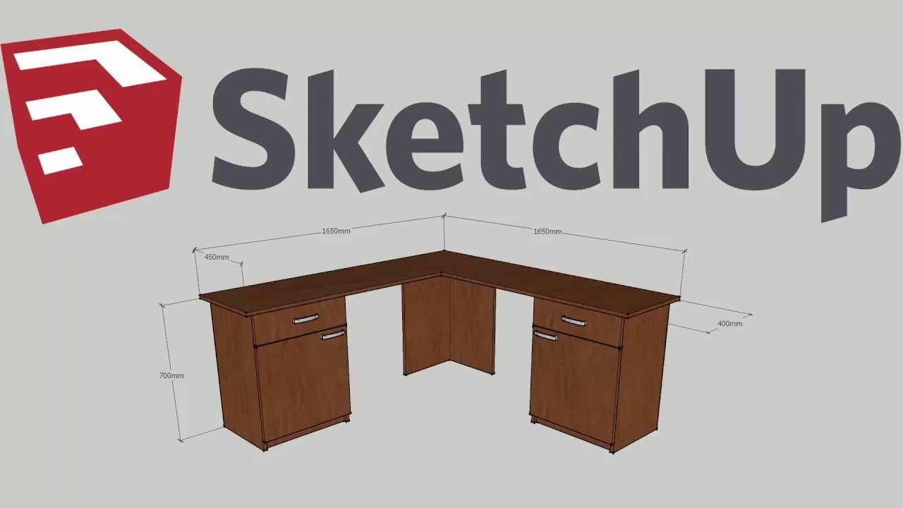 Simple Modern Plywood Corner Computer Desk