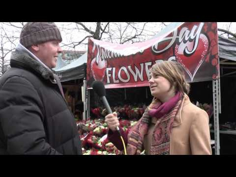 Traders try for Valentine's Day success