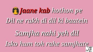 Hangover teri yaadon ka karaoke song with male voice (kick)