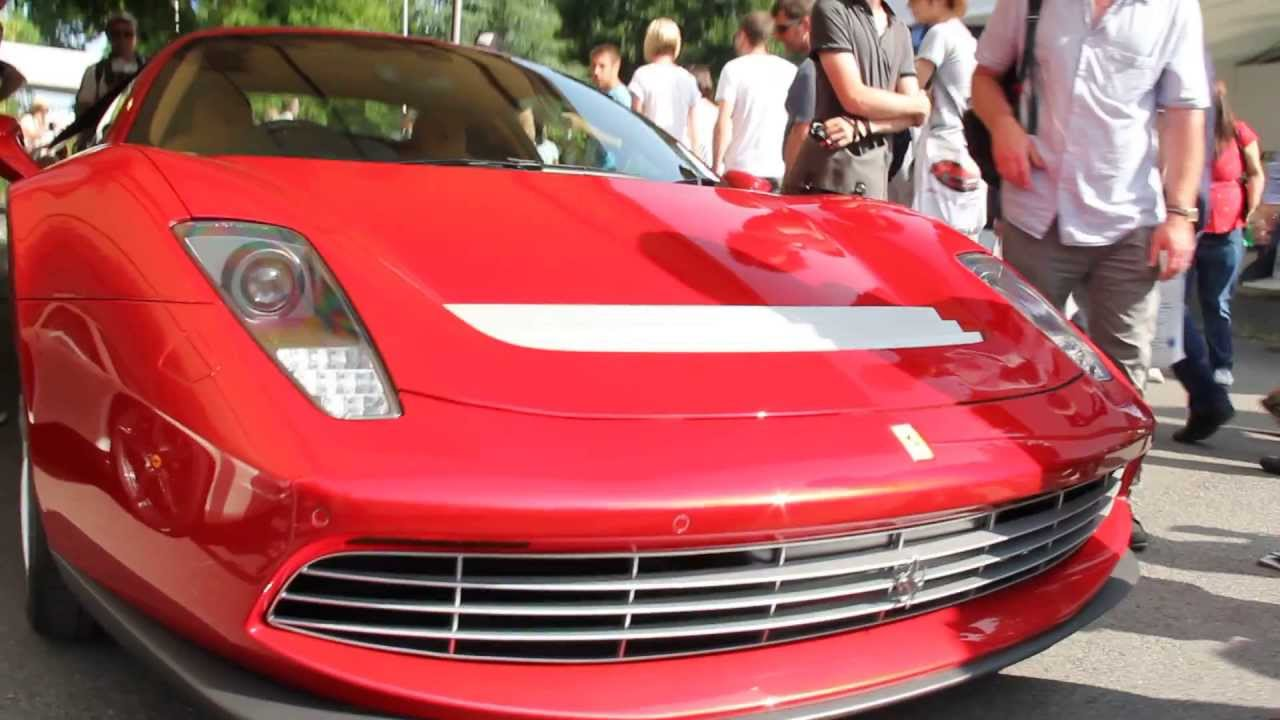 one of a kind ferrari sp12 ec of eric clapton at goodwood festival of speed 2013 youtube. Black Bedroom Furniture Sets. Home Design Ideas