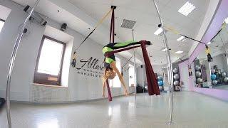 Сутула Настя  Видеоурок по воздушной акробатике  Трюк бабочка