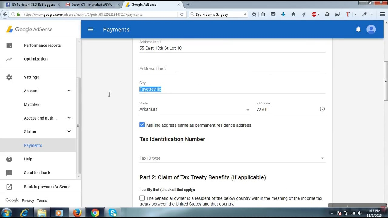 How to approve adsense tax form 100% working trick - YouTube