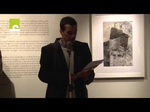 """Acto de inauguración de la exposición """"Ciudad"""", de Faraj Daham."""