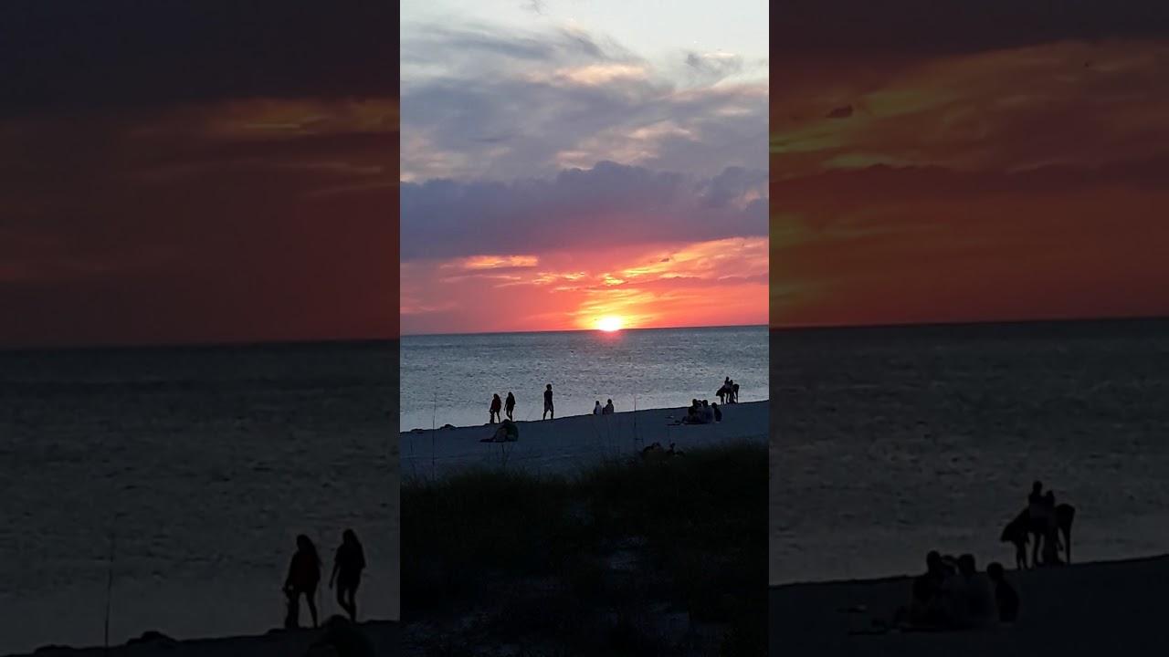 Beach sunset, Englewood FL, Us - YouTube