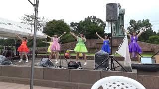 鹿児島の偉人、西郷さんの前できりしまサンシャインガールズが踊る貴重...