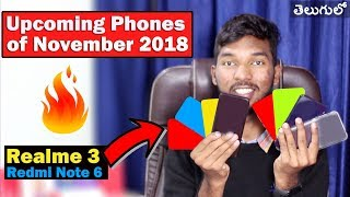 🔥🔥 Top Upcoming SmartPhones of November 2018 || intelugu