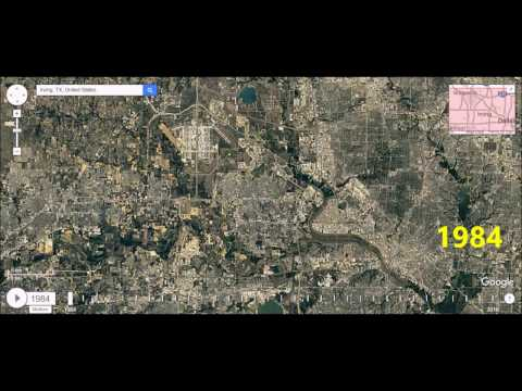 Irving, Texas - Urban Sprawl Time Lapse