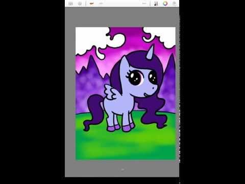 สอนวาดรูประบายสีการ์ตูน ม้าน้อยโพนี่ (pony)