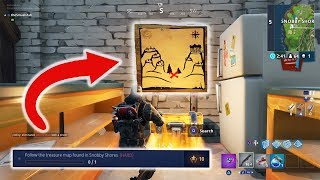 SNOBBY SHORES MAP & TREASURE LOCATION! Fortnite Battle Royal! NEW UPDATE Battle Pass Guide