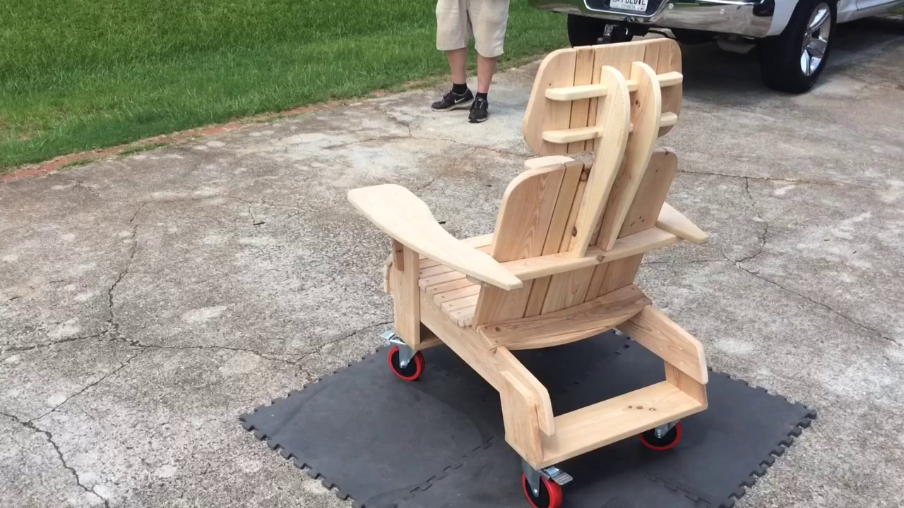 chair on wheels rocking adirondack chairs youtube