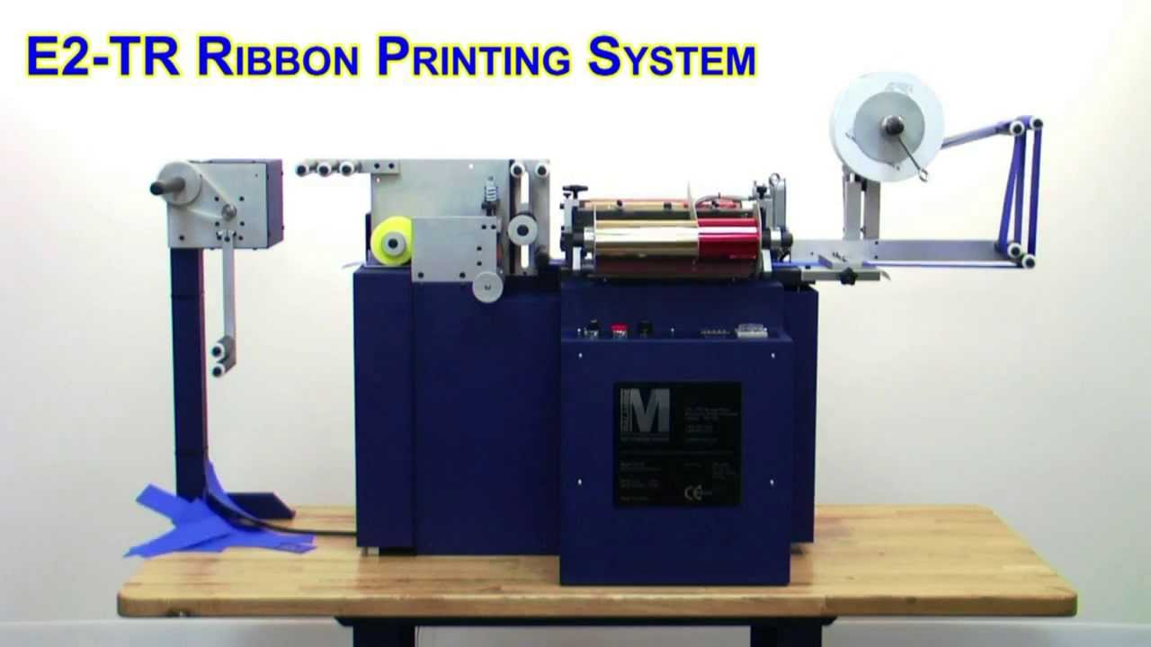 printing machine for ribbons