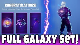 All New Galaxy Skin Back Bling, Pickaxe and Glider in Fortnite! Full Galaxy Set Live Gameplay!