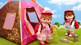メルちゃんキャンプ テントにお泊まり /  Mell-chan Doll Camping Accessory Playset thumbnail