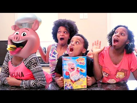 Thumbnail: POP THE PIG GAME CHALLENGE 🐷 + Shopkins Surprise Toy Opening!