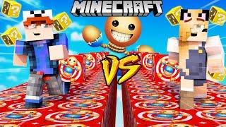 SZALONY WYŚCIG! - KICK THE BUDDY LUCKY BLOCKI MINECRAFT! (Lucky Block Race) | Vito vs Bella