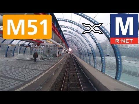 🚇 GVB R-net Amsterdam Metrolijn 51 Cabinerit Isolatorweg - Centraal Station Driver's View POV