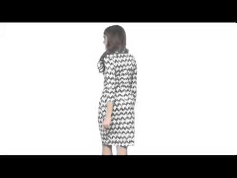 Karen Kane Zig Zag Print Cascade Wrap Dress Sku8119165 Youtube