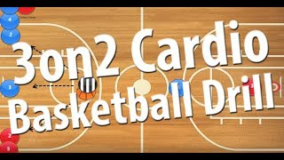 3 on 2 Cardio Basketball Drill